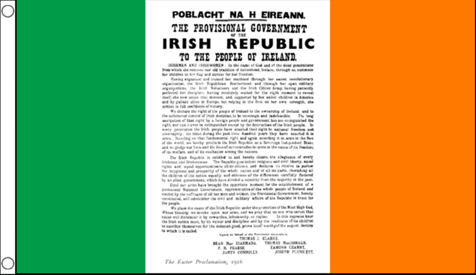 easter rising proclamation 5 x 3 flag