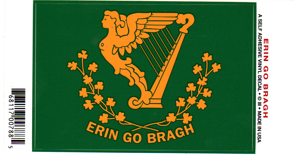Erin go bragh ireland forever sticker