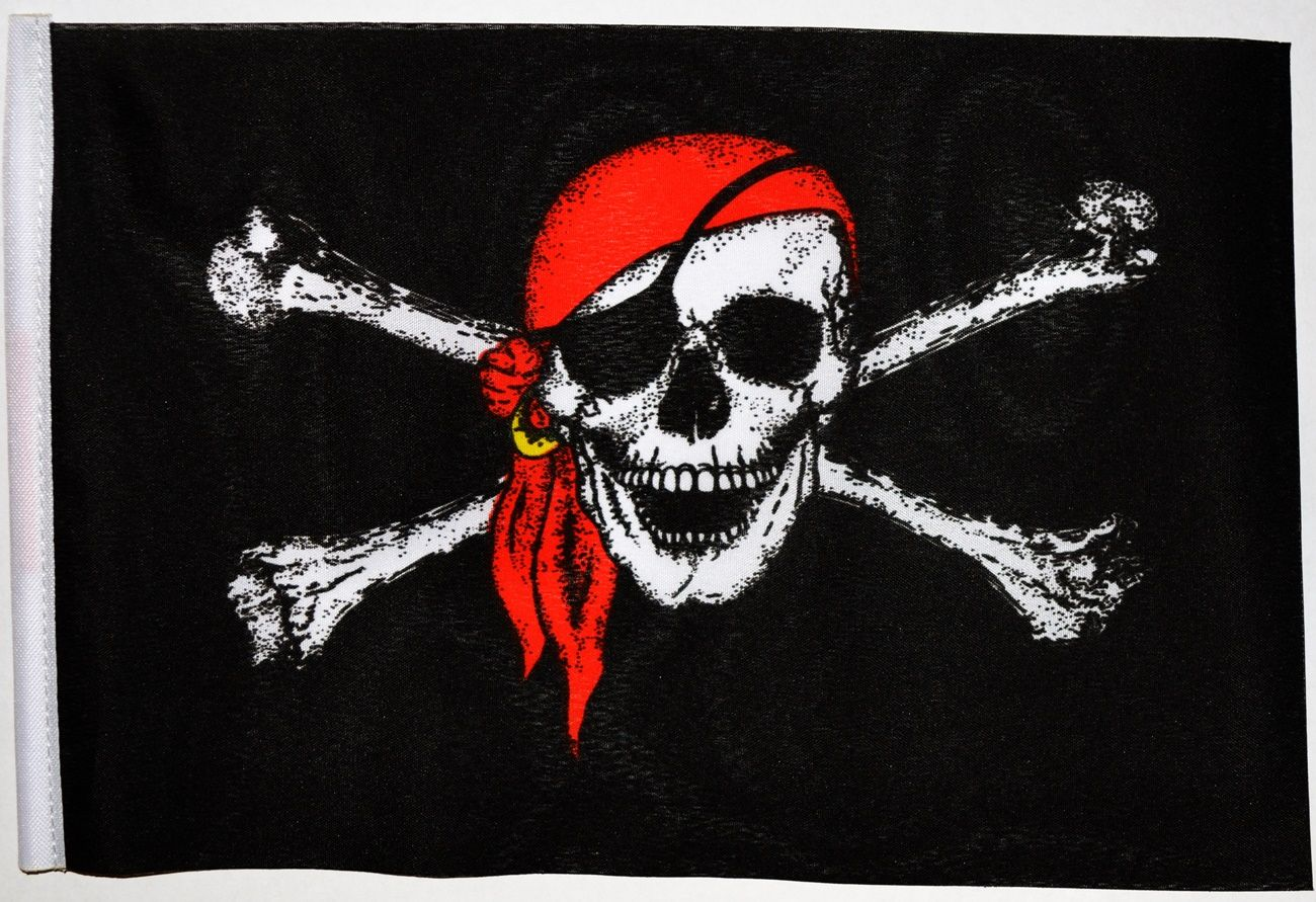 Real Red Pirate Flags
