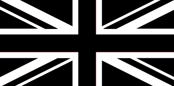 Gallery Union Jack Flag Black And White