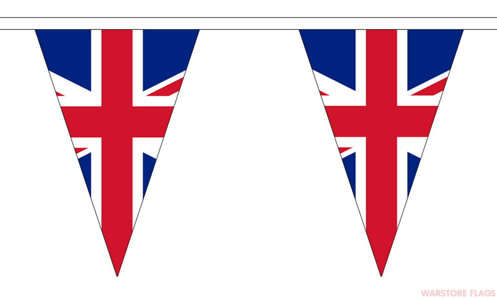 union jack triangular bunting 20 metres 54 flags