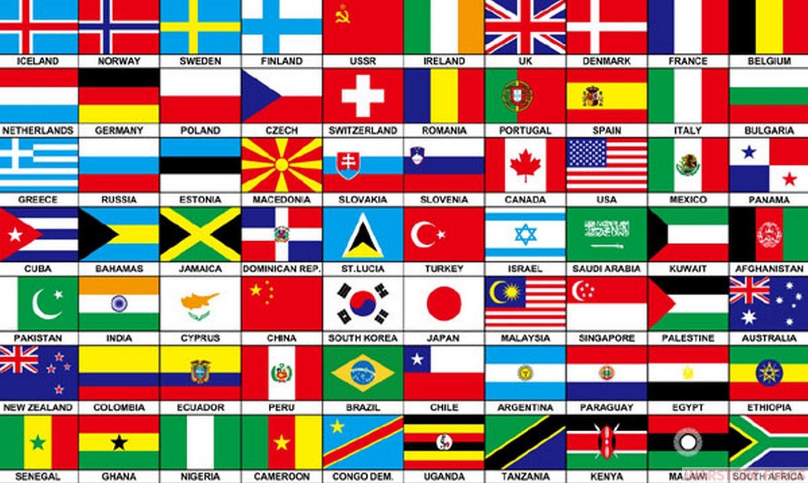 70 nations 5 x 3 flag