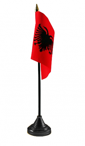 ALBANIA - Table flag