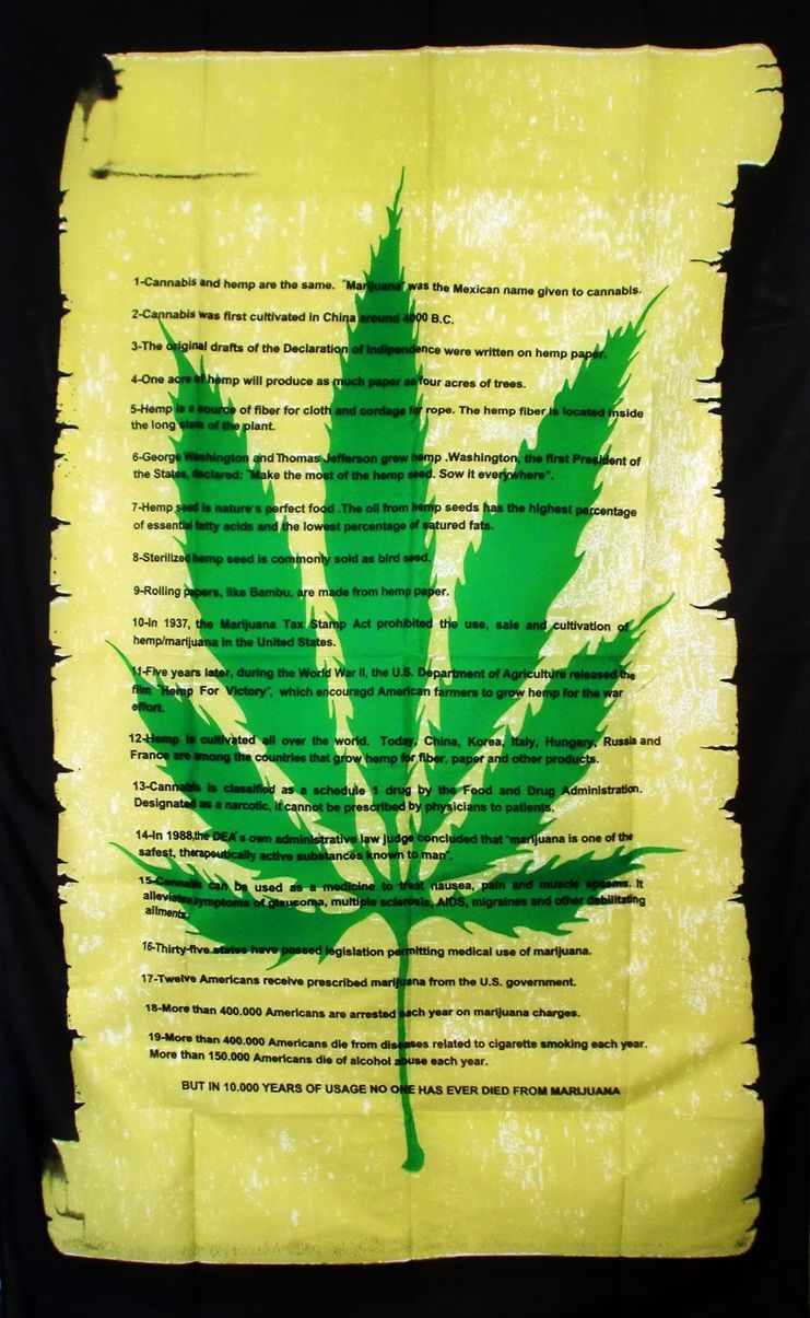 cannabis declaration scroll 5 x 3 flag