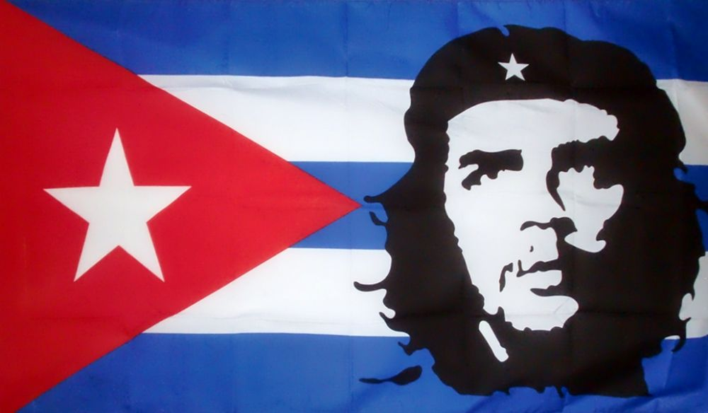 che guevara cuba 5 x 3 flag. Black Bedroom Furniture Sets. Home Design Ideas