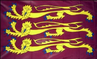 "RICHARD THE LIONHEART Handwaving Flag 9/"" x 6/"" Polyester Flag 12/"" Wooden Pole"