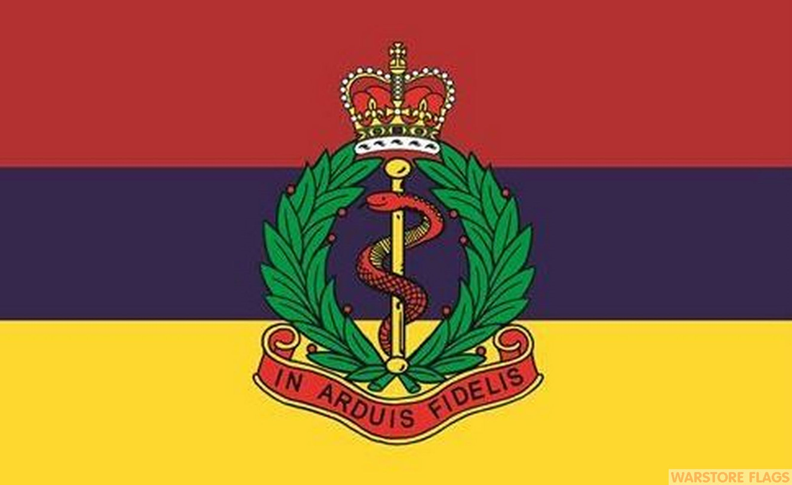 Emblem Corp Stock >> ROYAL ARMY MEDICAL CORPS - 5 X 3 FLAG