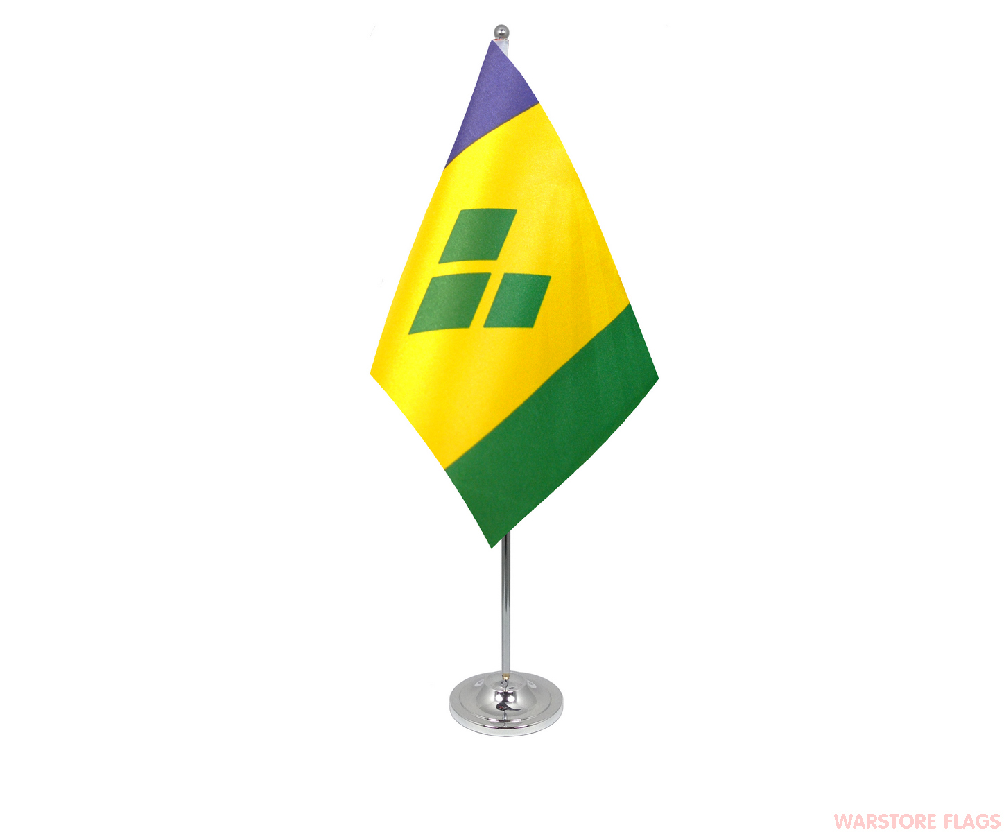 ST VINCENT & THE GRENADINES - DELUXE SATIN TABLE FLAG