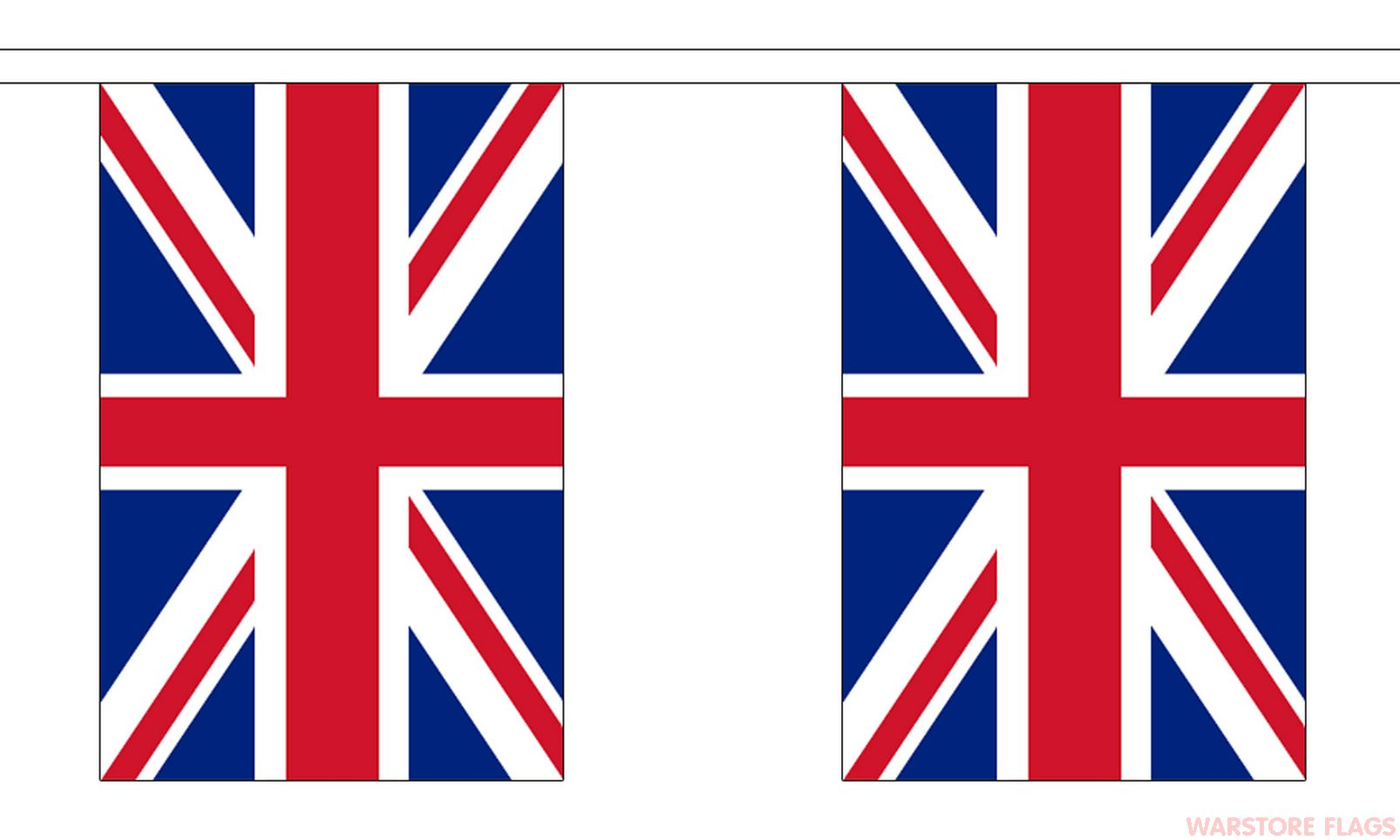 UNION JACK BUNTING - 3 METRES 10 FLAGS