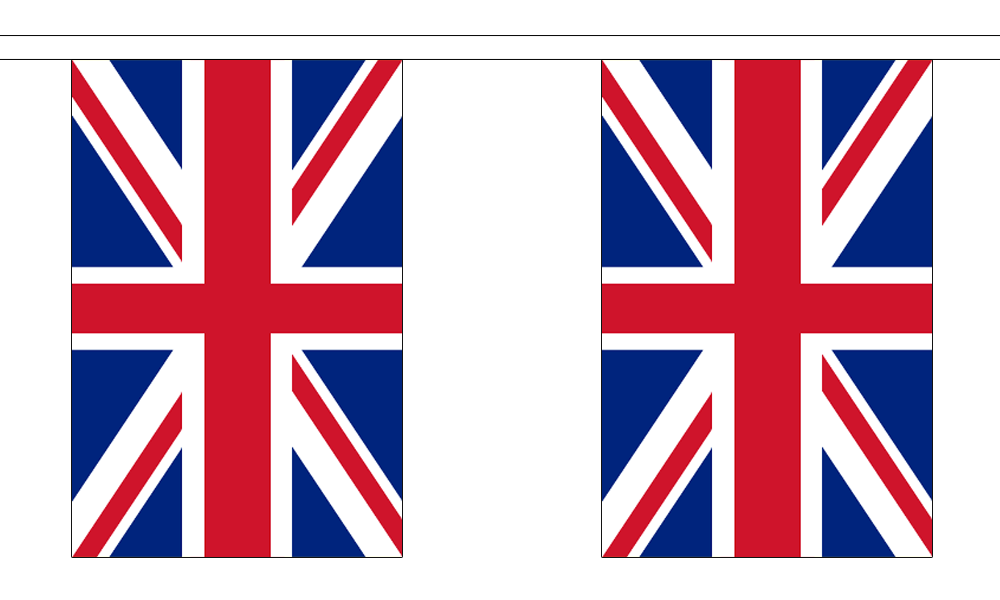 Union Jack Great Britain Bunting 18 Metres 30 Flags