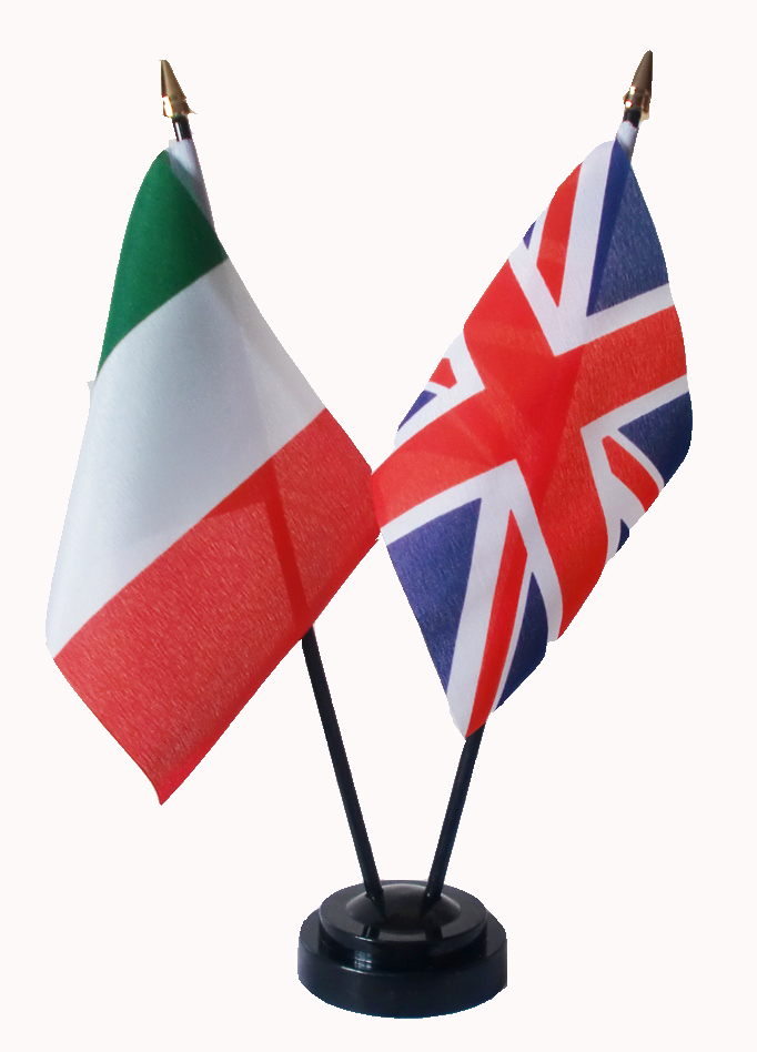 Union Jack Italy Friendship Table Flags